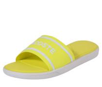 Pantolette 'slide 118' gelb / weiß
