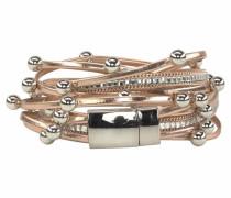 Wickelarmband bronze / silber