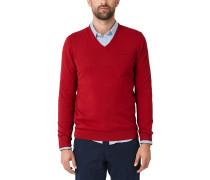 Pullover mit V-Ausschnitt rot