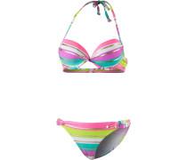 Push-up-Bikini mischfarben