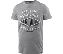 Herren T-Shirt graumeliert