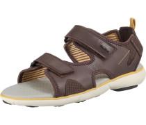 Sandalen braun / goldgelb