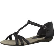 Sandale geflochten schwarz