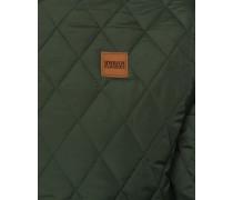 Diamond Quilt Nylon Jacket oliv