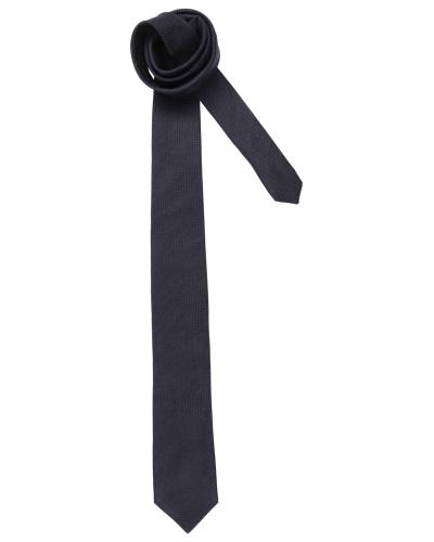 Krawatte aus Seiden-Woll-Mix dunkelblau