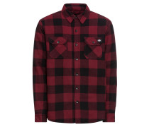 Hemd 'Lansdale' rot / schwarz