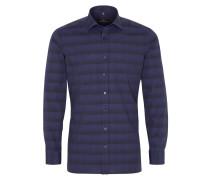 Langarm Hemd Slim FIT nachtblau / schwarz