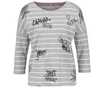 T-Shirt graumeliert / schwarz / weiß