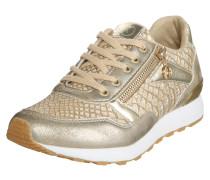 Sneaker im Metallic-Look gold