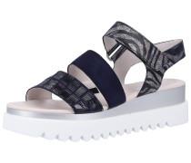 Sandalen dunkelblau / schwarz / silber