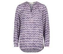 Bluse violettblau / rosa / weiß