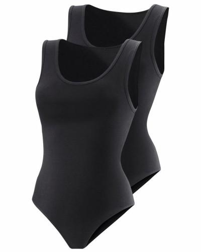 Achselshirt-Body (2 Stück) schwarz