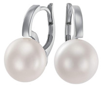 Ohrhänger '87481263' silber / perlweiß