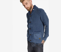 Strickjacke 'painter' blau