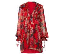 Kleid mischfarben / rot