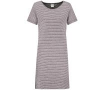 Kleid pastellrot / schwarz / weißmeliert