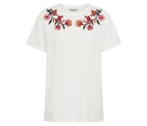 T-Shirt blutrot / offwhite