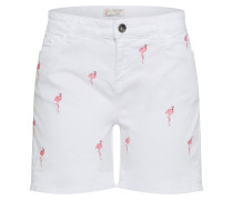 Shorts 'Flamingo' rosa / weiß
