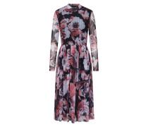 Kleid flieder / pastellrot / schwarz