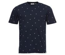 T-Shirt 'wilson' navy / weiß