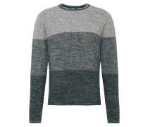 Pullover 'Stephan' hellgrau / dunkelgrün