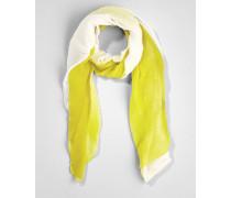 Plissee-Schal gelb