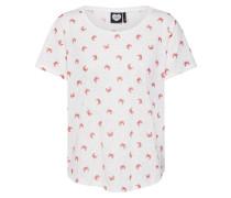 Shirt koralle / weiß