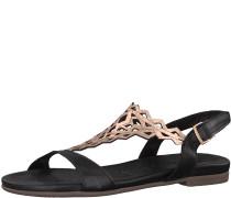 Sandale 'Mandala' bronze / schwarz