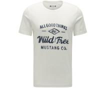 T-Shirt anthrazit / naturweiß