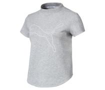 Sweat-T-Shirt 'Evostripe Move' graumeliert