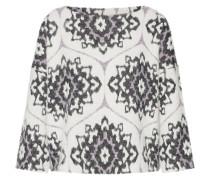 Pullover 'india' lila / schwarz / weiß