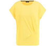 T-Shirt Kurzarm Rundhals T-Shirt mit Raffung