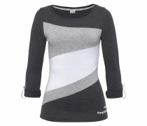 Longsleeve grau / schwarz / weiß