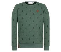 Sweatshirt grün / schwarz