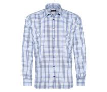 Langarm Hemd Modern FIT blau / hellblau
