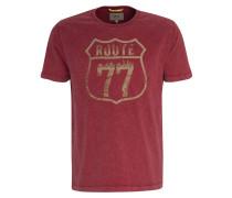 T-Shirt sand / dunkelrot