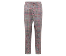 Hose 'tailored Newchec' grau / rot