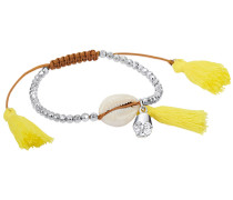 Armband braun / gelb / silber