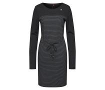Kleid 'nuggie Dress' grau / schwarz