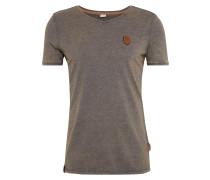 T-Shirt 'Schimpanski' greige / helllila