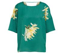 Bluse 'fanette' gelb / smaragd / weiß