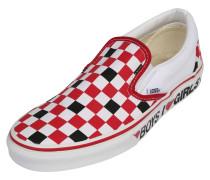 Slipper weiß / schwarz / rot