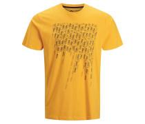 T-Shirt goldgelb / graphit