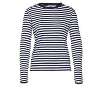 Shirt 'Lindsay' blau / weiß