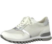 Sneaker ecru / silber / naturweiß
