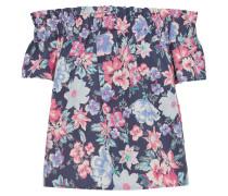 Bluse navy / mischfarben / rosa