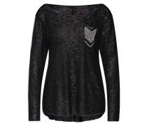 Shirt schwarz / silber