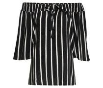 Bluse 'print Blouse' schwarz / weiß