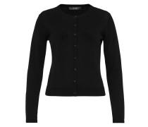 Basic-Cardigan aus Feinstrick schwarz