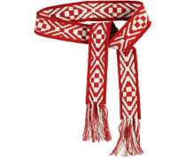 Stoffgürtel 'Tessuta' rot / weiß